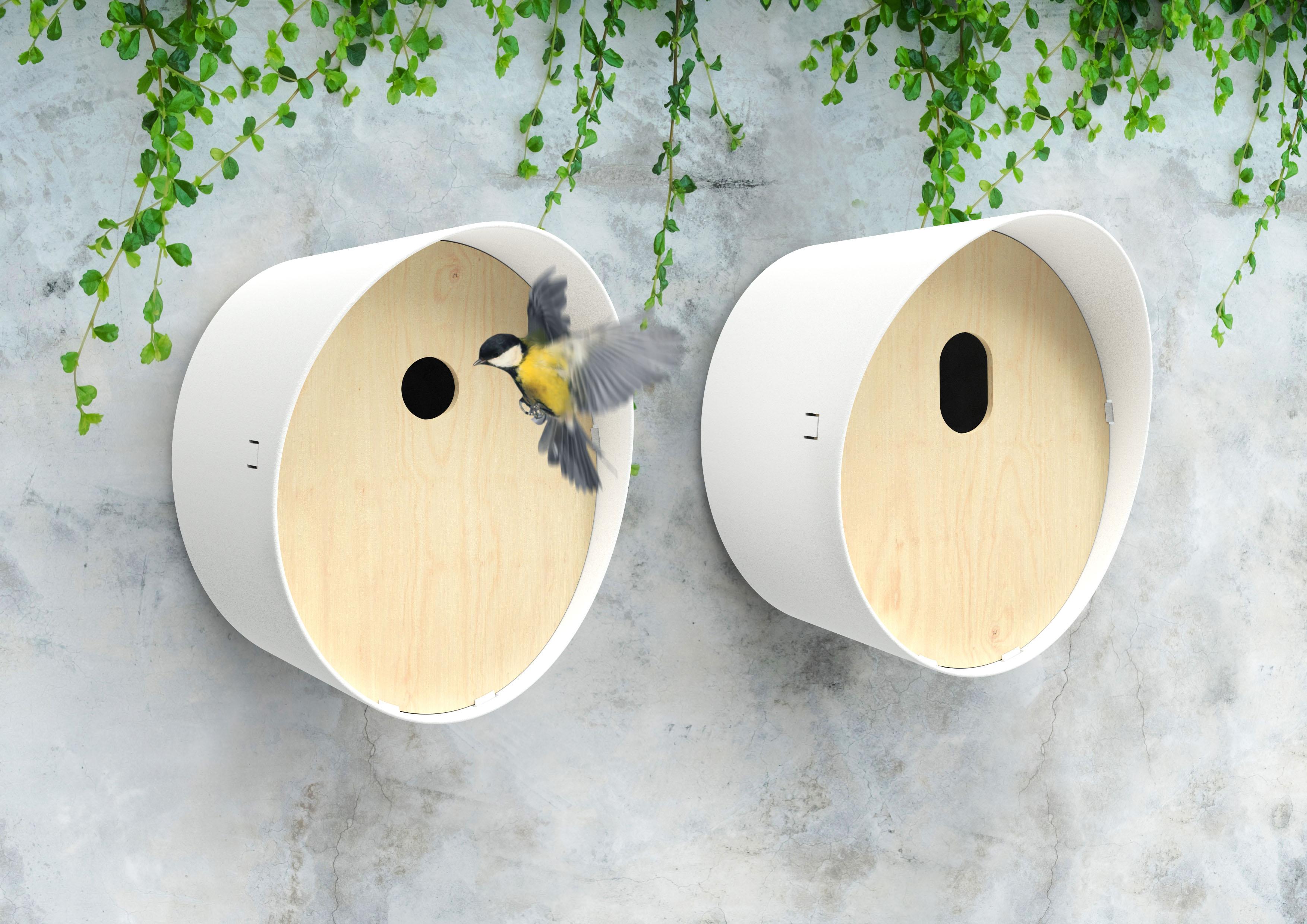 Capi Vogelhuisje Ovaal Wit