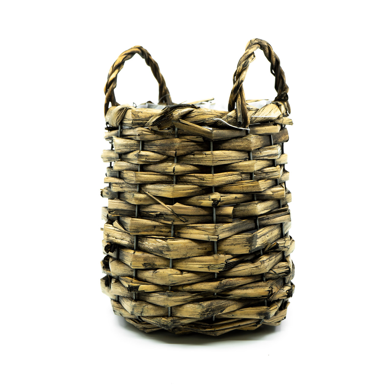 Planter basket willow 17x17x18cm