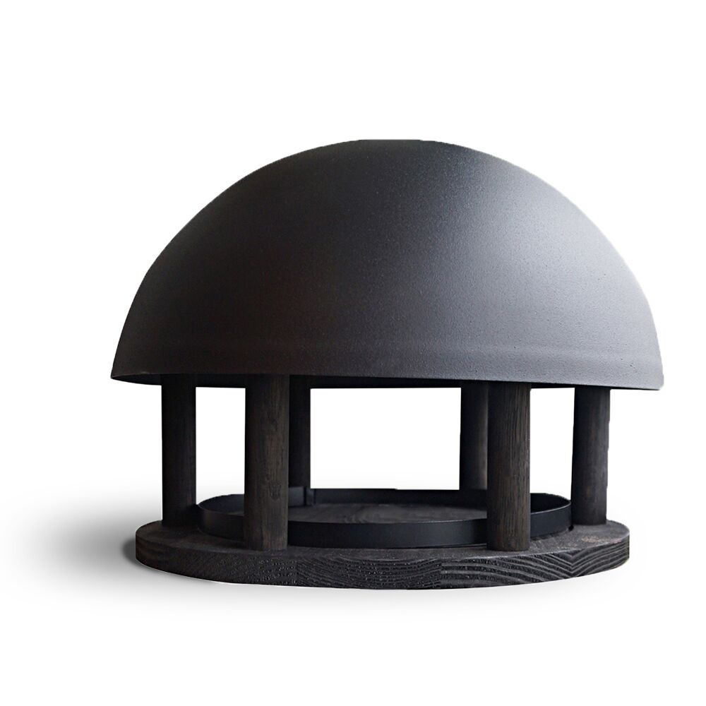 Vogel- voederhuis Dome black wood