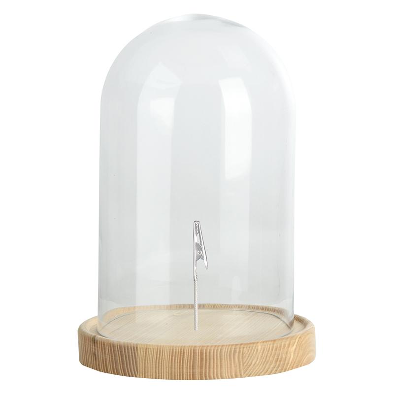 Esschert Glazen Stolp Met Clip L