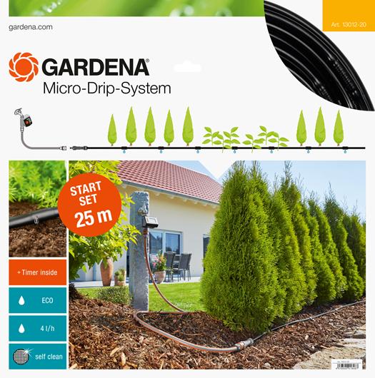 Gardena Micro Drip Start Set M Voor 25 Meter Rijplanten Met Besproeiingscomputer