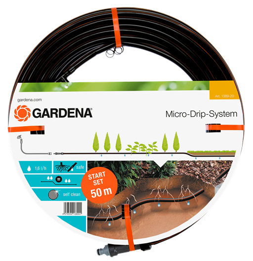 Gardena Micro Drip Druppelslang Boven/-Ondergronds Ø 13.7 mm 50 Meter