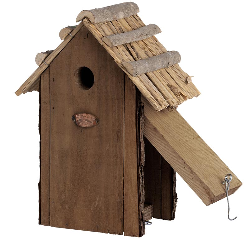 Esschert Vogelhuis Koolmees Rieten Dak