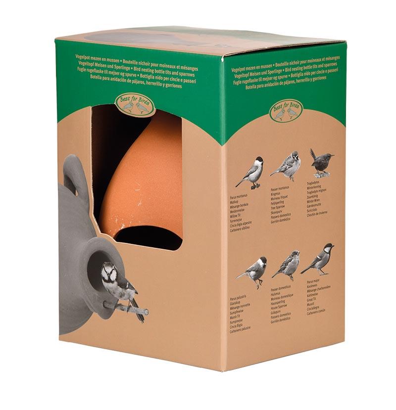 Vogelpot kruik mezen en mussen