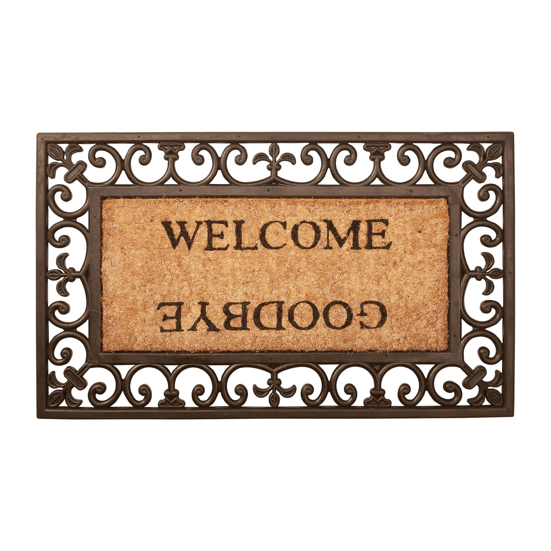Deurmat welcome/goodbye