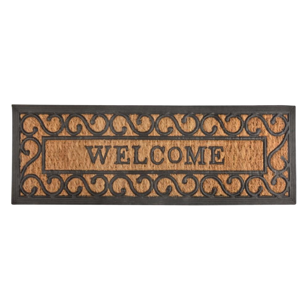 Esschert Deurmat Rubber en Kokos Welcome