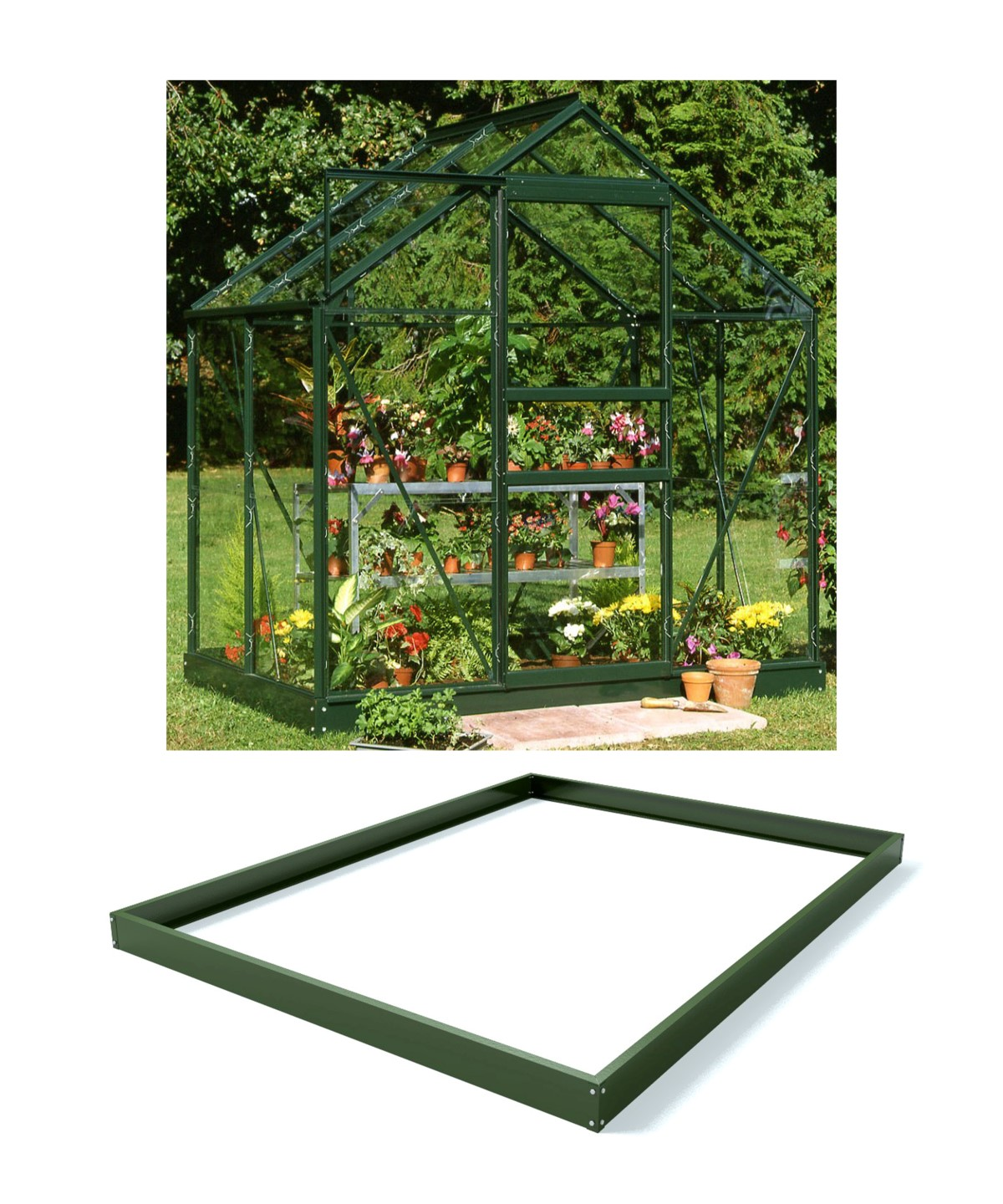 Royal Well Tuinkas en Fundering Popular 46 Groen Gecoat Tuindersglas 3mm