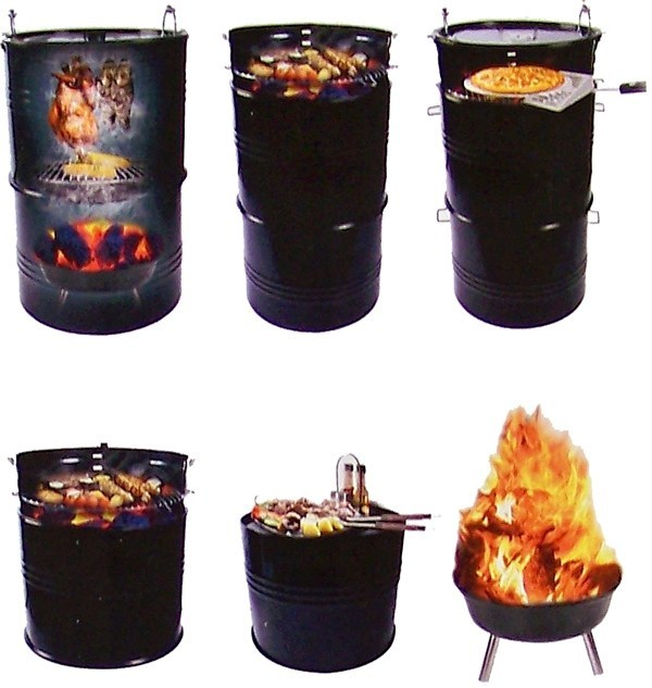 BBQ Barbecue Grill Smoker Pizza Oven Ton