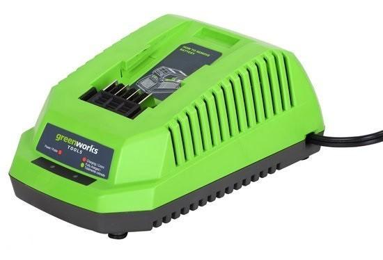 Greenworks 40 V acculader