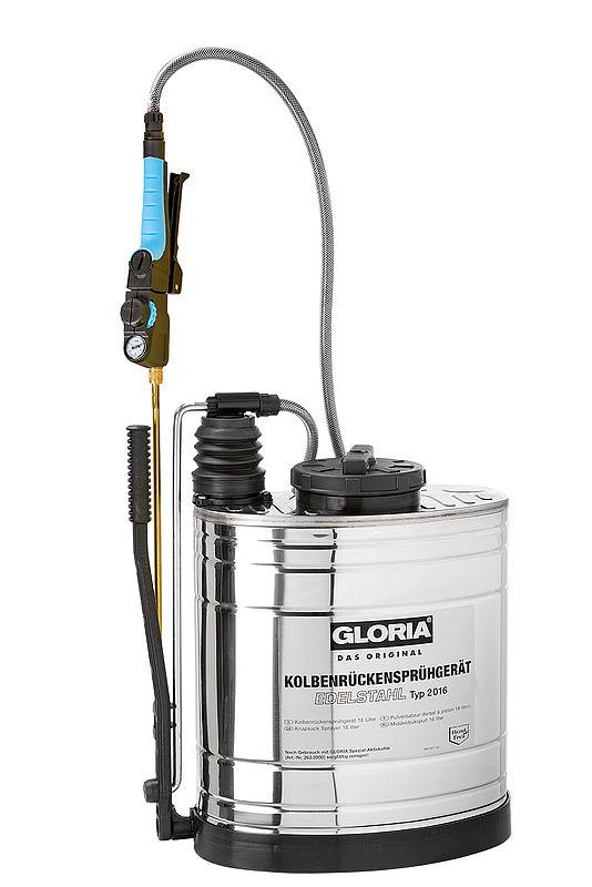 Typ 2016 - 16 liter RVS + messing verlengstuk 50 cm.