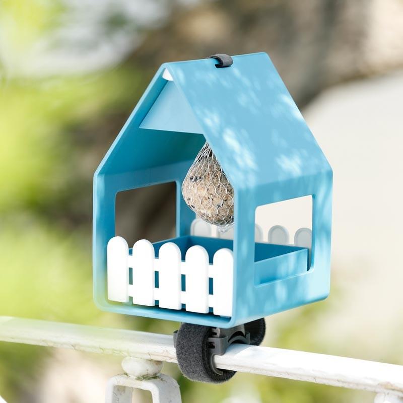 Emsa vogelvoederhuis grijsblauw sfeer