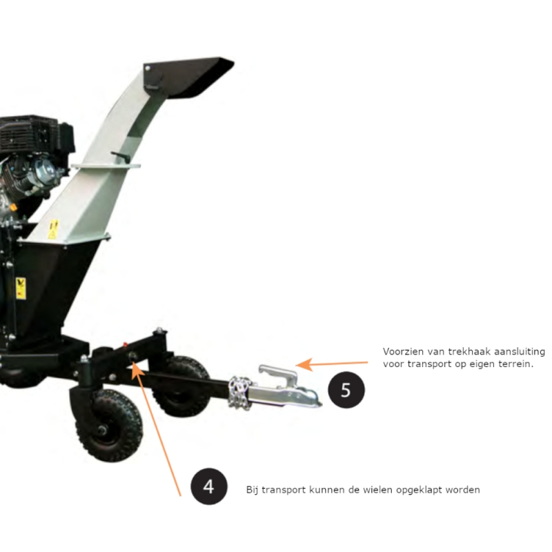 Lumag Benzine Hakselaar HC15PRO-NL   Accu-Startmotor Benzine Versnipperaar