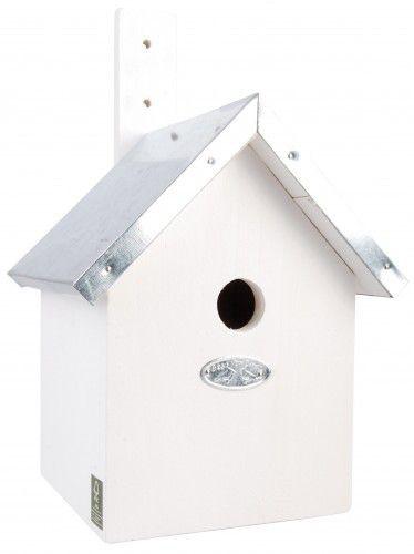 Esschert vogelhuis pimpelmees wit