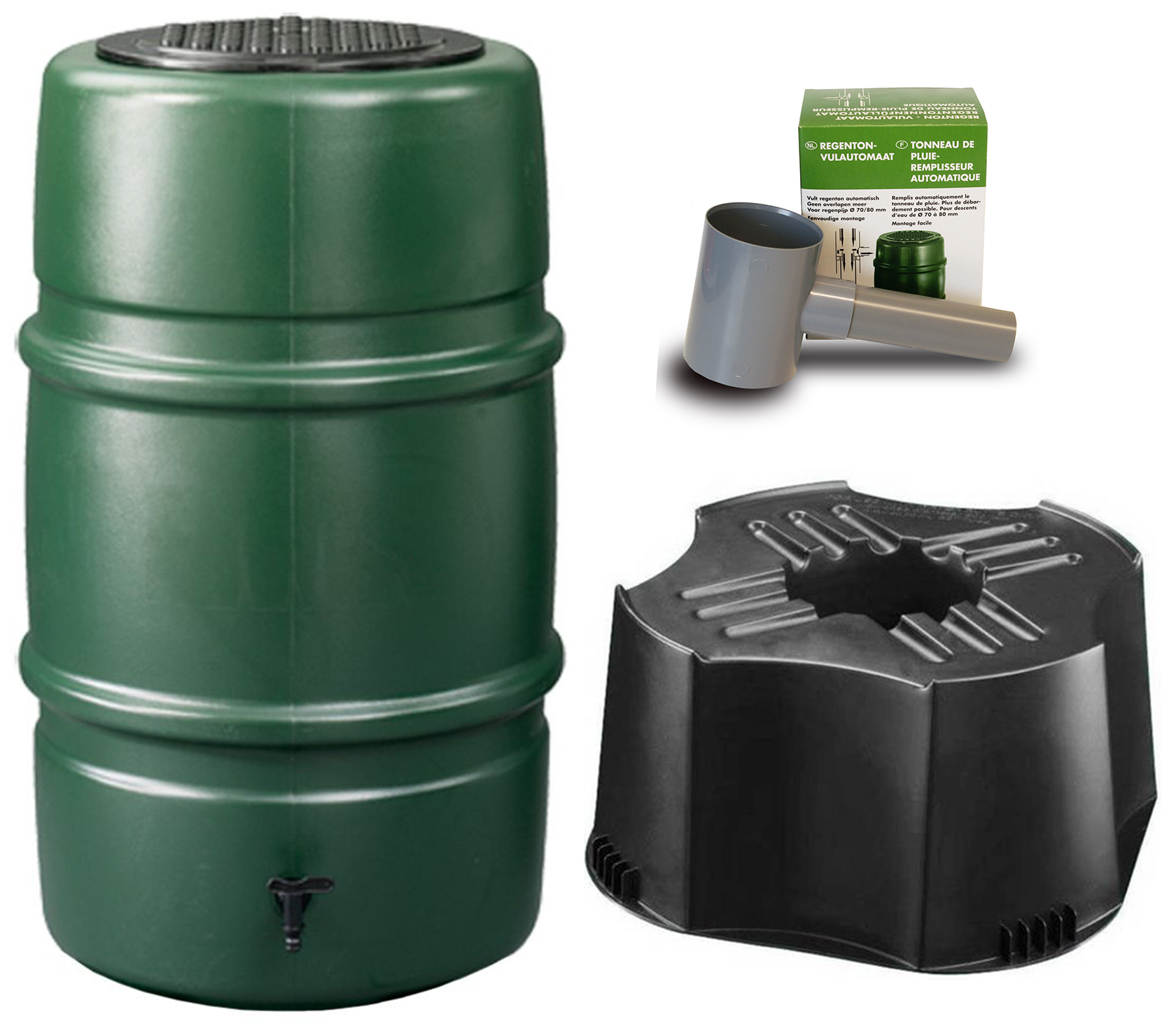 Harcostar Regenton Groen 227 Liter + Vulautomaat + Voet