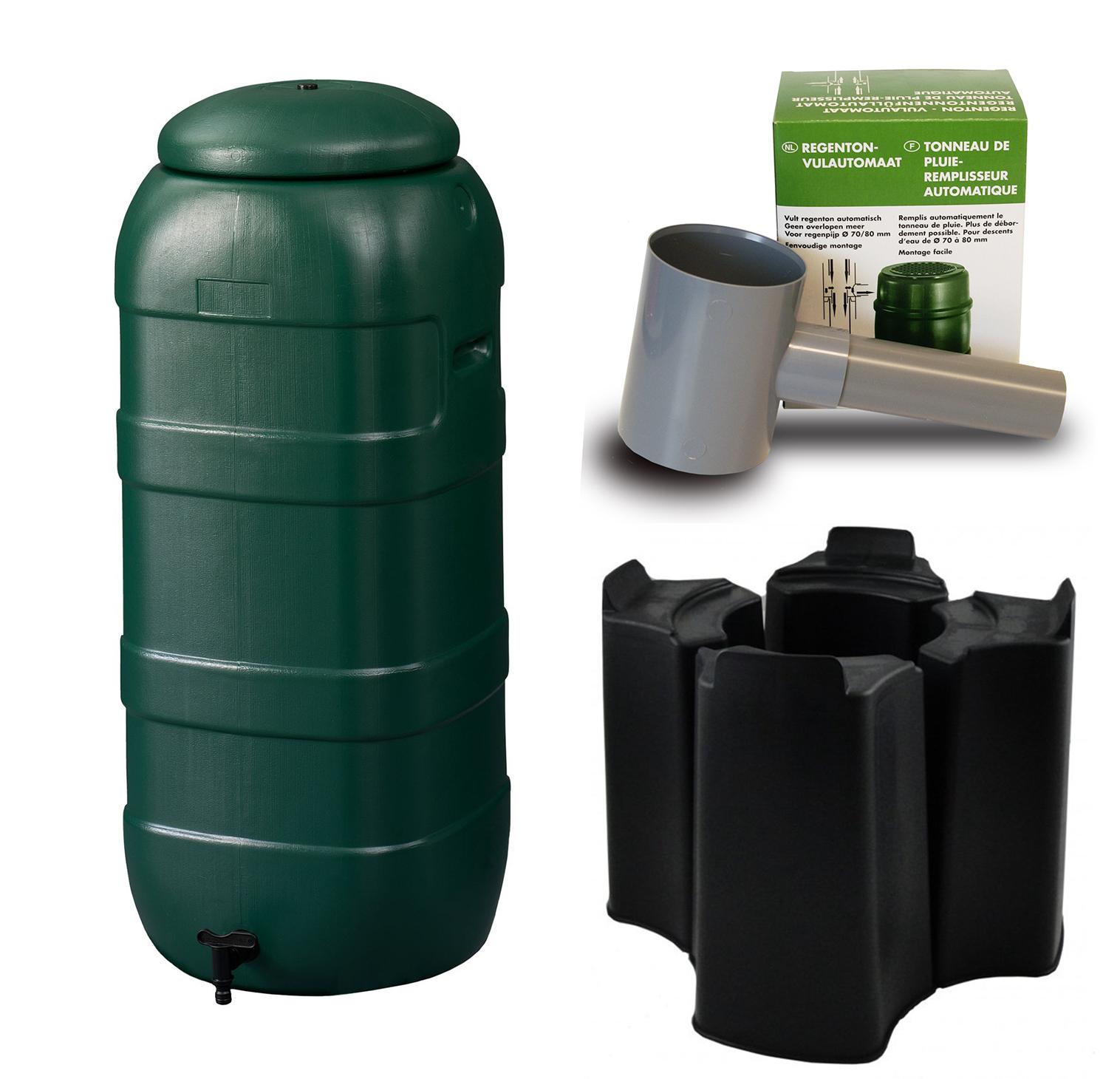 Harcostar Rainsaver 100 Liter Groen met Vulautomaat en Voet