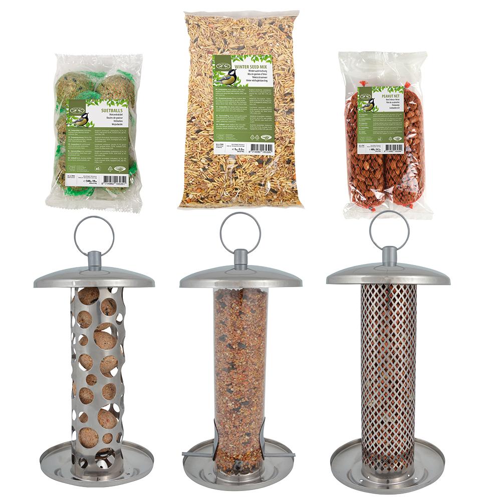 Esschert RVS voederhangers met voer