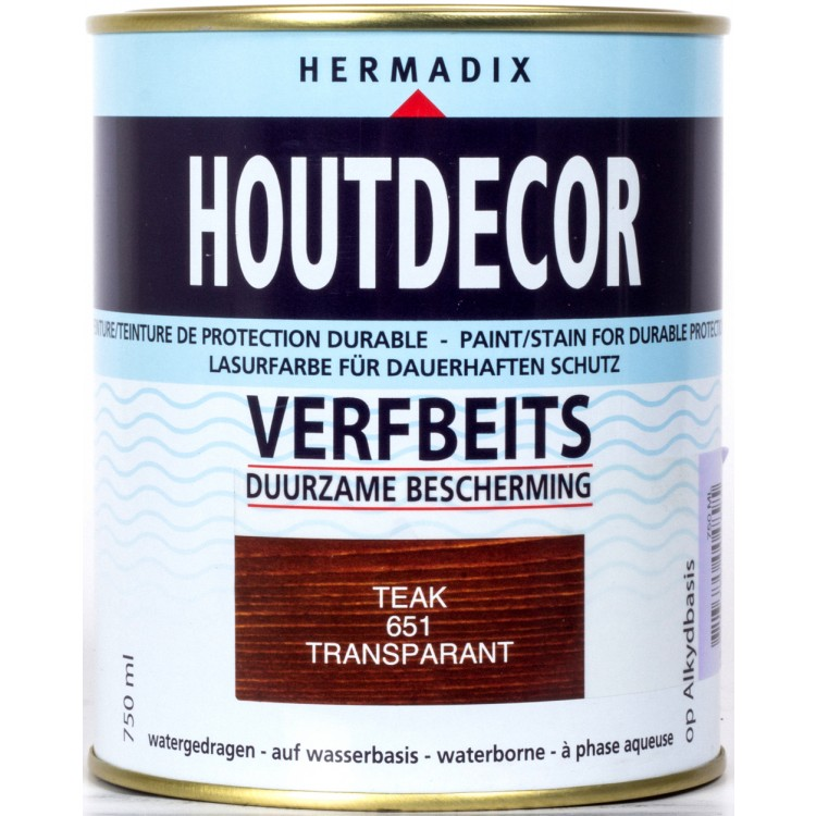 Hermadix Houtdecor Verfbeits Teak 651 - 750 ml