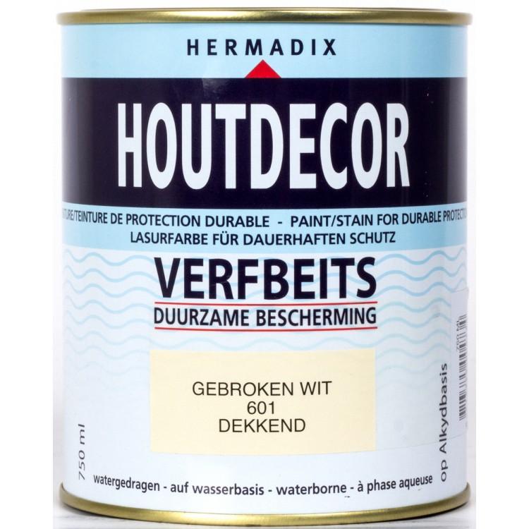 Hermadix Houtdecor Verfbeits Gebroken Wit 601 - 750 ml
