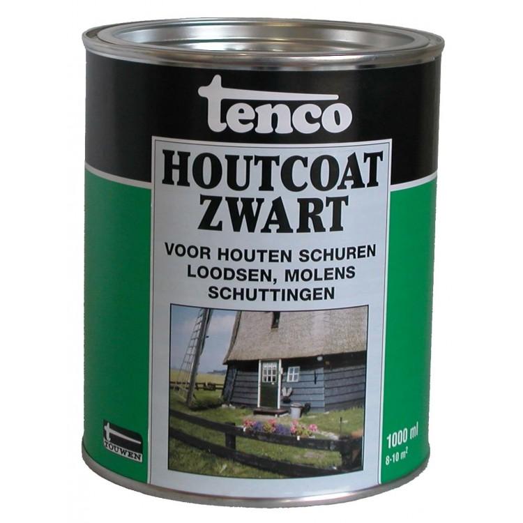 Tenco Houtcoating Zwart 1 Liter