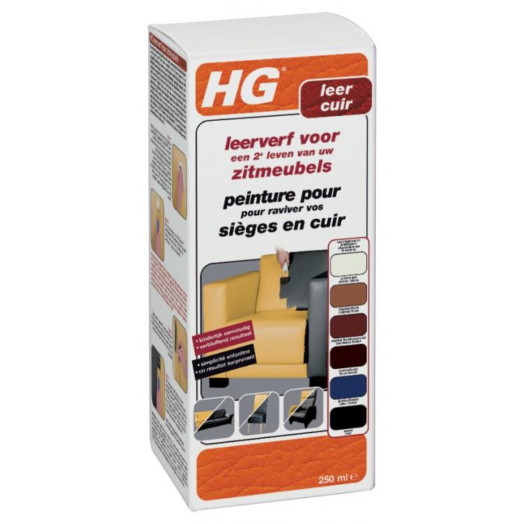 HG Leerverf Zwart 250 ml