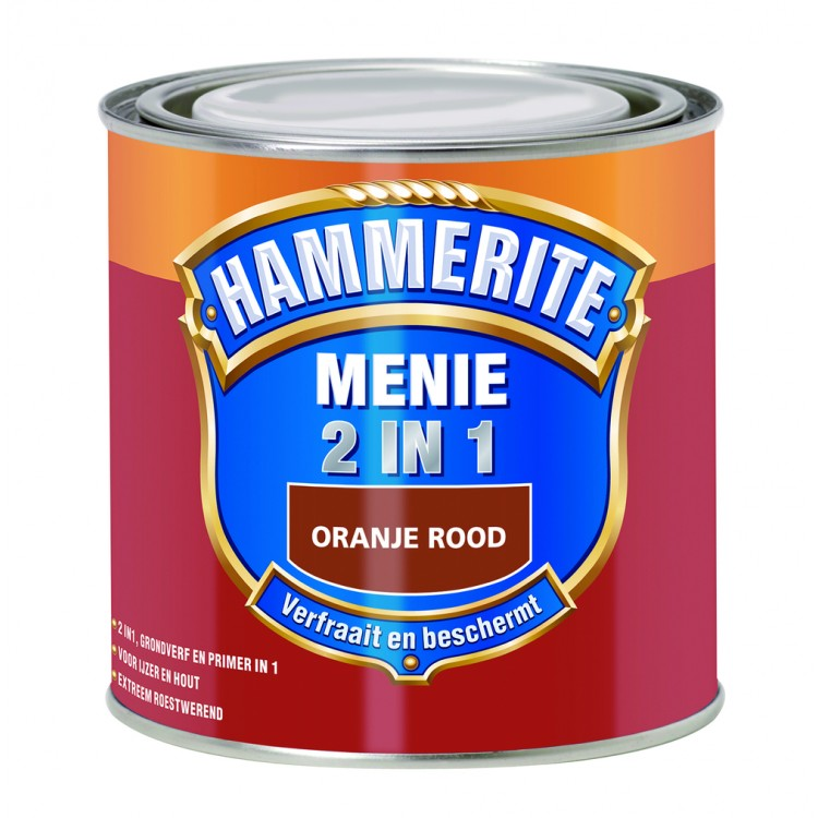 Hammerite Menie Loodvrij 2-in-1 Oranjerood 250 ml