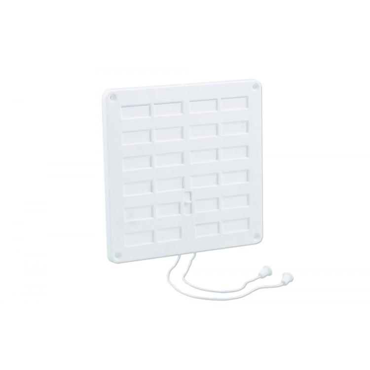 Nedco Schuifrooster Afsluitbaar Kunststof Wit 200 x 200 mm