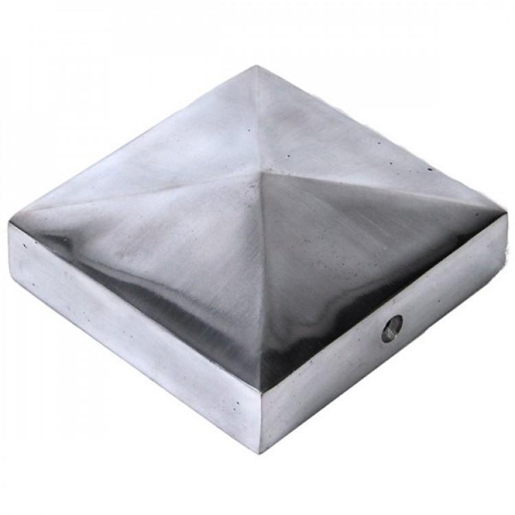 Paalornament Staal Piramide Koper 71 x 71 mm