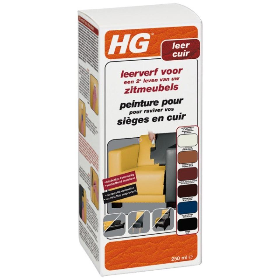 HG Leerverf Donkerbruin 250 ml