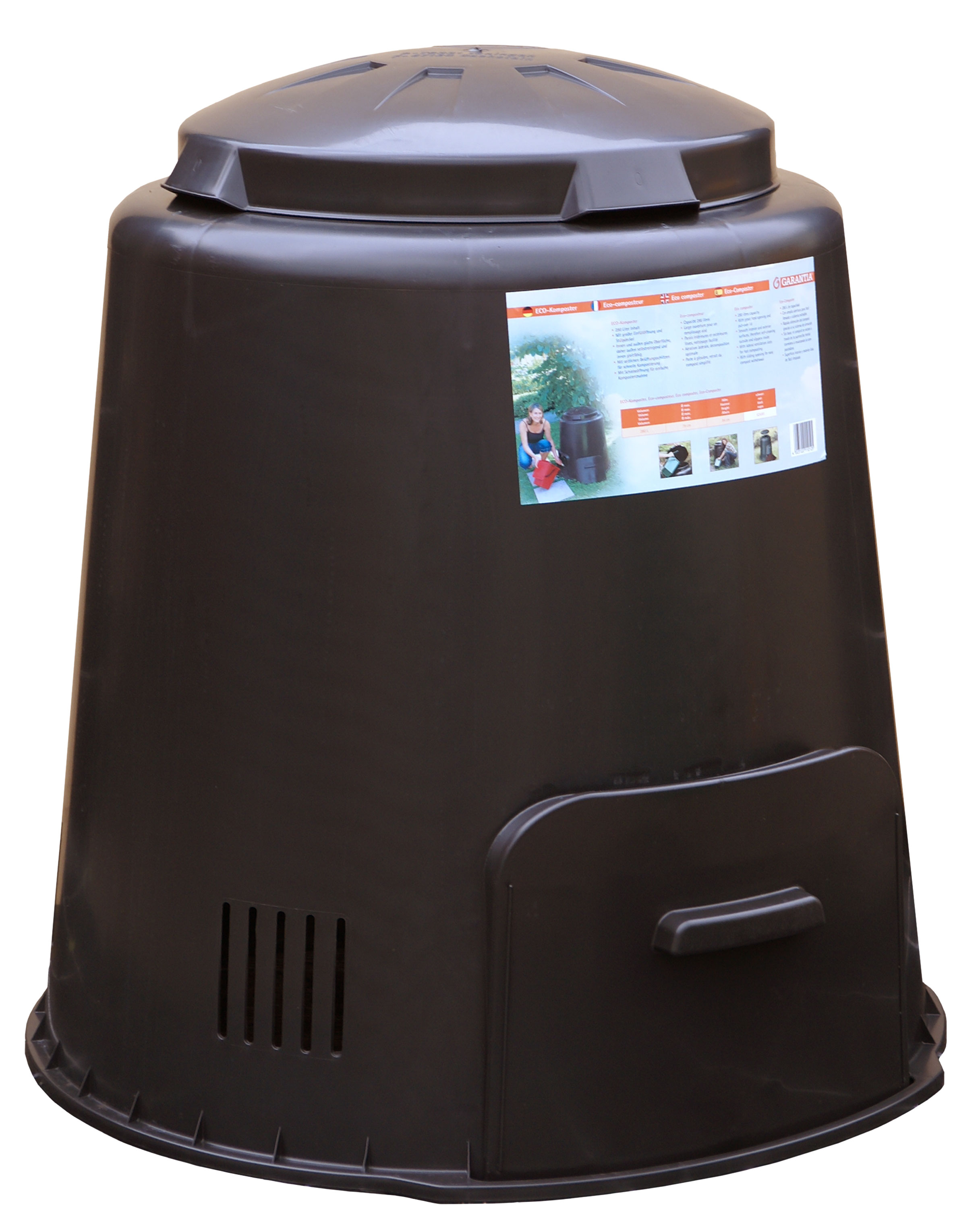 MA Compostvat Eco 290 liter Zwart