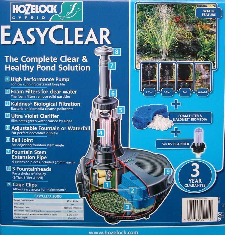 Hozelock Filter- en Fonteinpomp Easyclear 3000