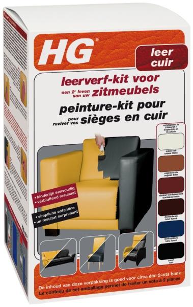 HG Leerverf Kit Donkerbruin 500 ml