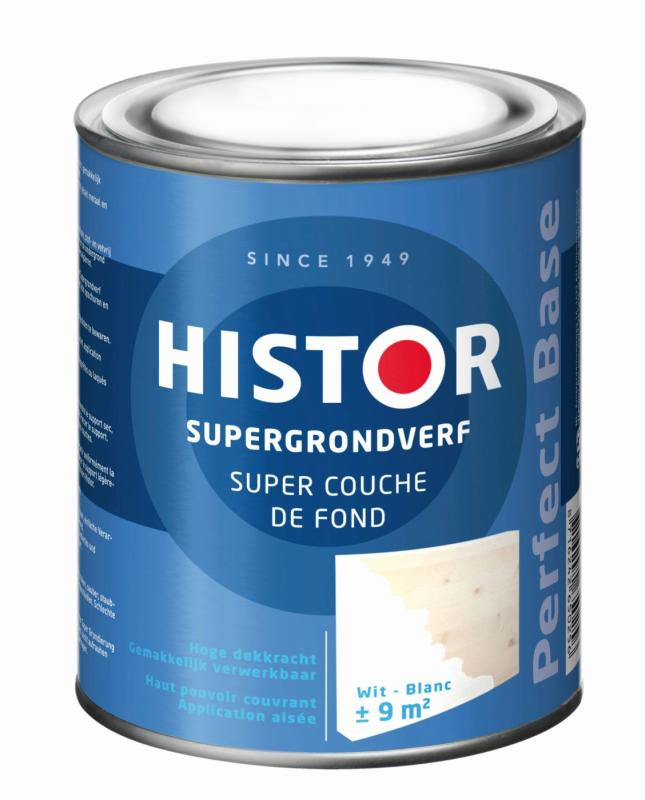 Histor Super Grondverf Perfect Base Alkyd Wit 750 ml