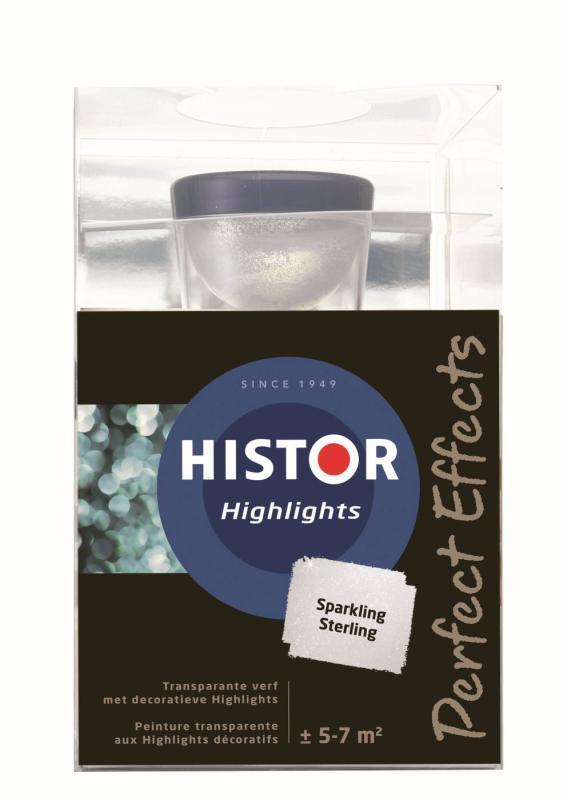 Histor Muurverf Highlights Sparkling Sterling 750 ml