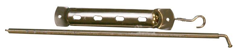 Qlinq Spiraaldeurveer Vernikkeld 350 x 10 mm