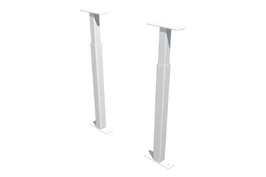 Secubar Barrierestang Duo Wit 31-55cm