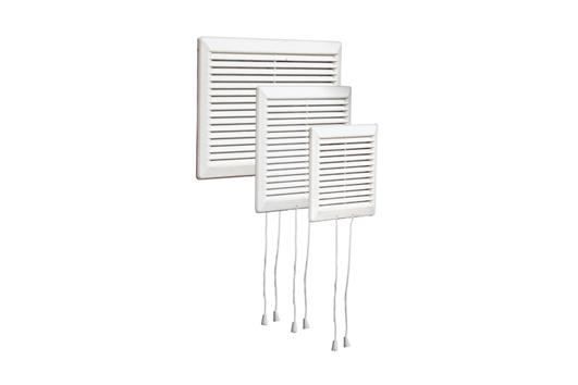 Schuifrooster Afsluitbaar Kunststof Wit 160 x 160 mm