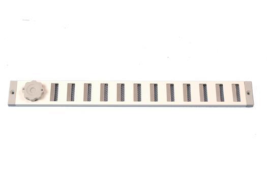 Schuifrooster Aluminium Met Gaas Wit 370 x 40 mm