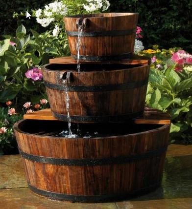 Waterornament houten ton