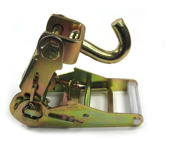 Spanratel 50 mm met smalle handgreep en draaihaak