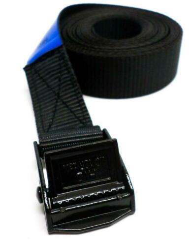 Spanbanden 25 mm zwart met zwarte klemsluiting