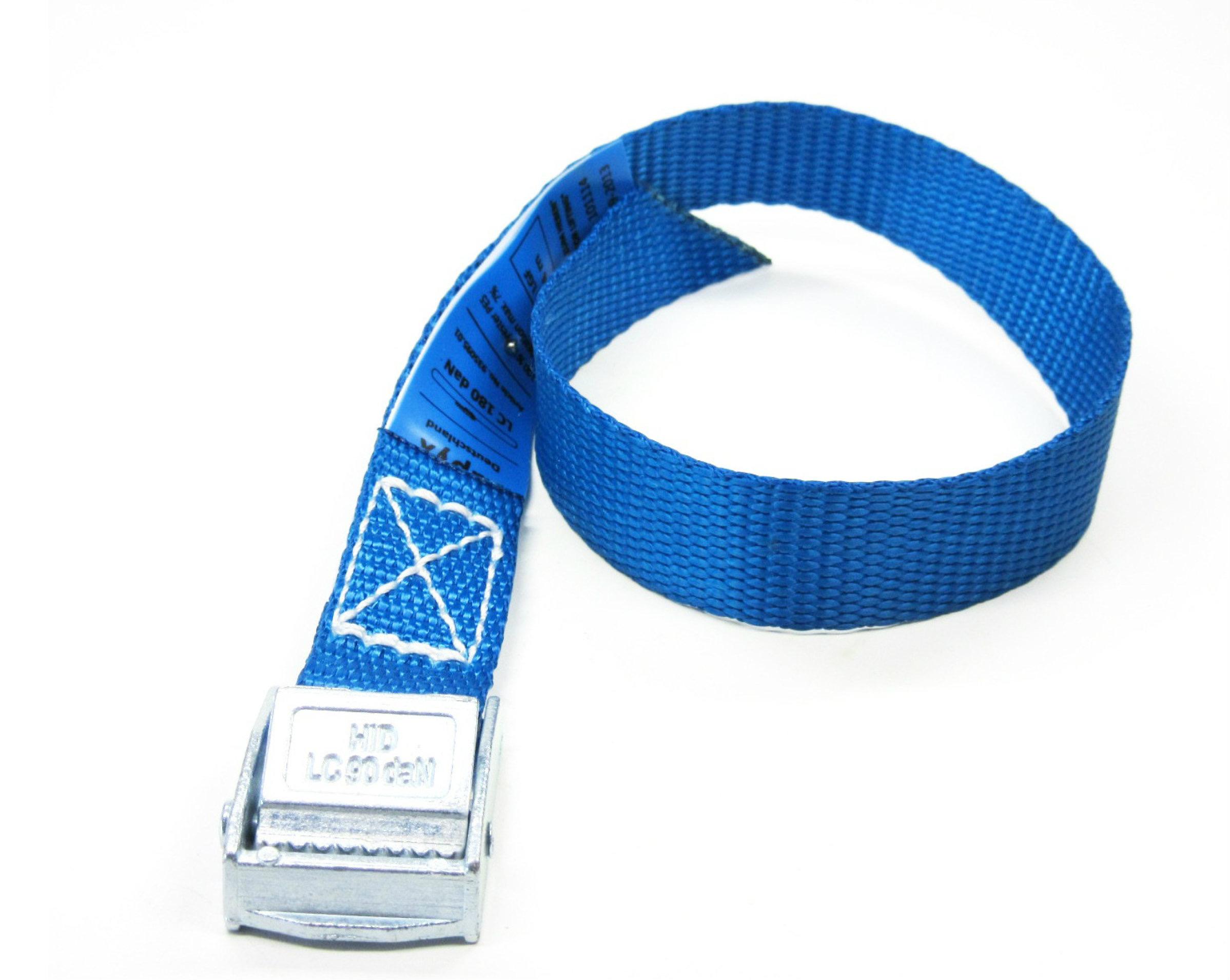 Spanbanden blauw 20 mm met klemsluiting