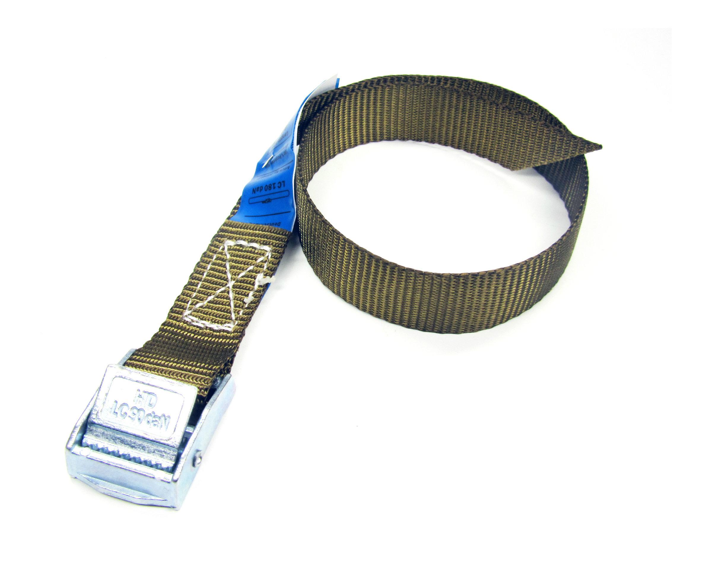 Spanbanden bruin 20 mm met klemsluiting