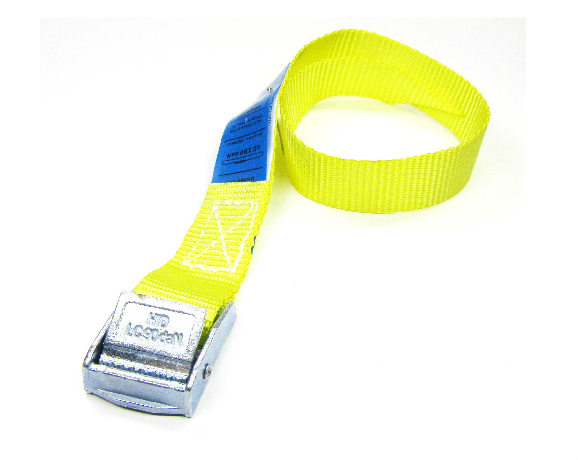 Spanbanden geel 20 mm met klemsluiting