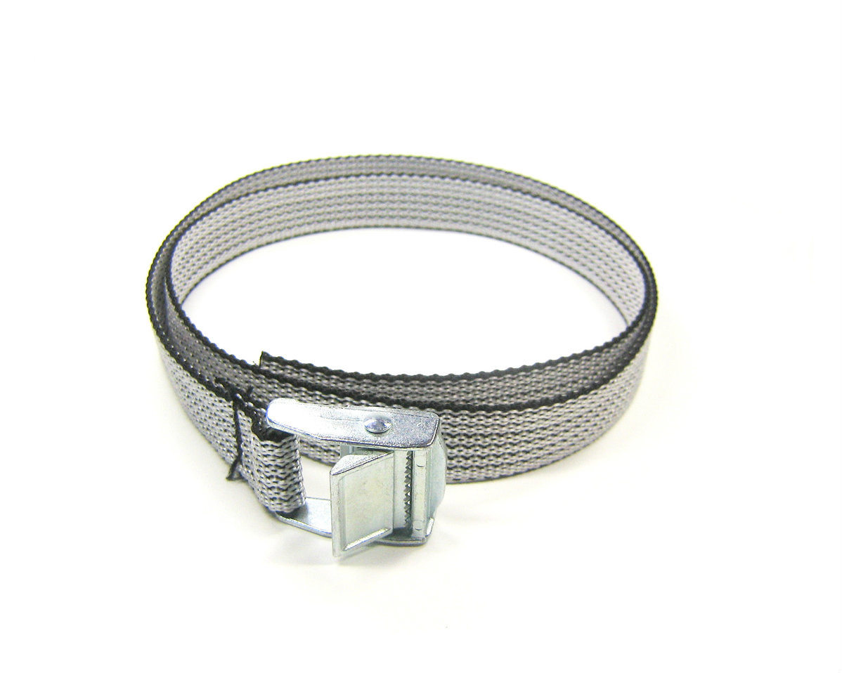 Spanbanden grijs 18 mm met klemsluiting