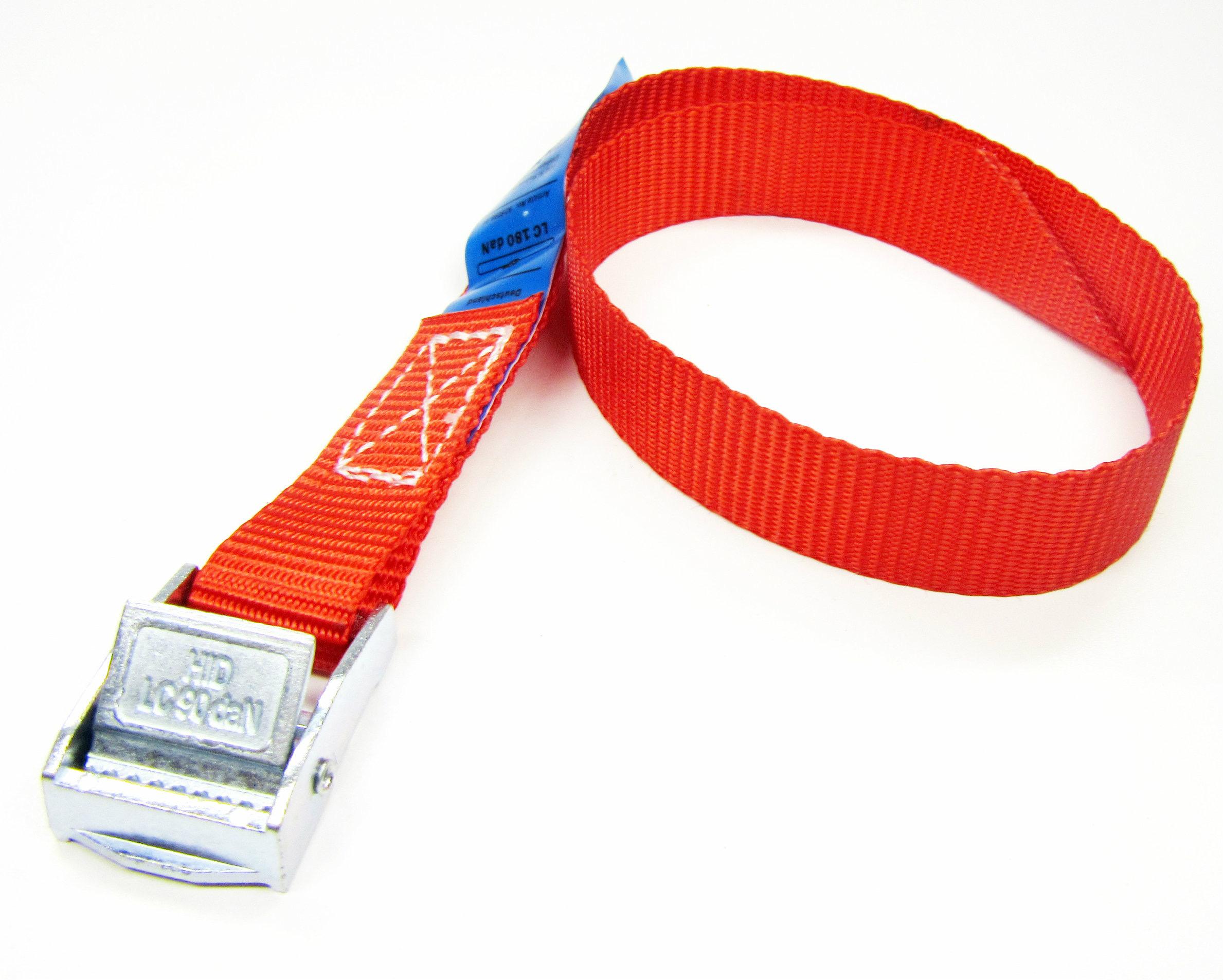 Spanbanden rood 20 mm met klemsluiting