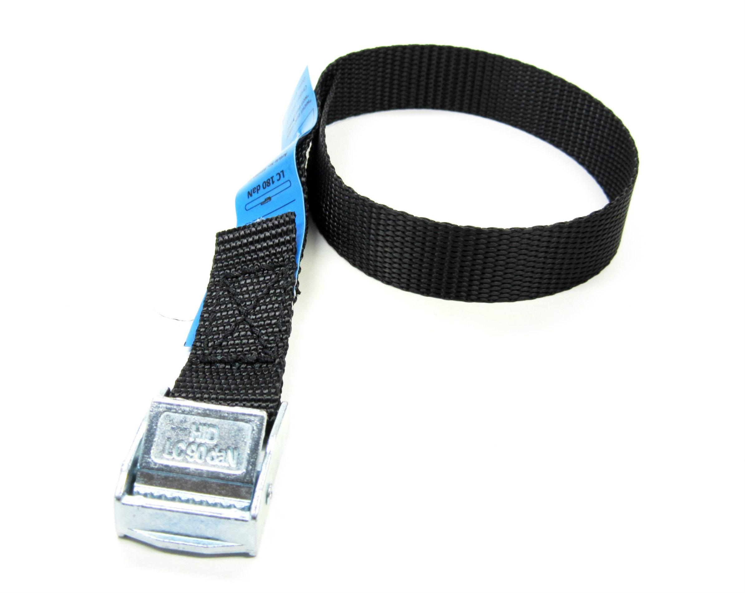 Spanbanden zwart 20 mm met klemsluiting