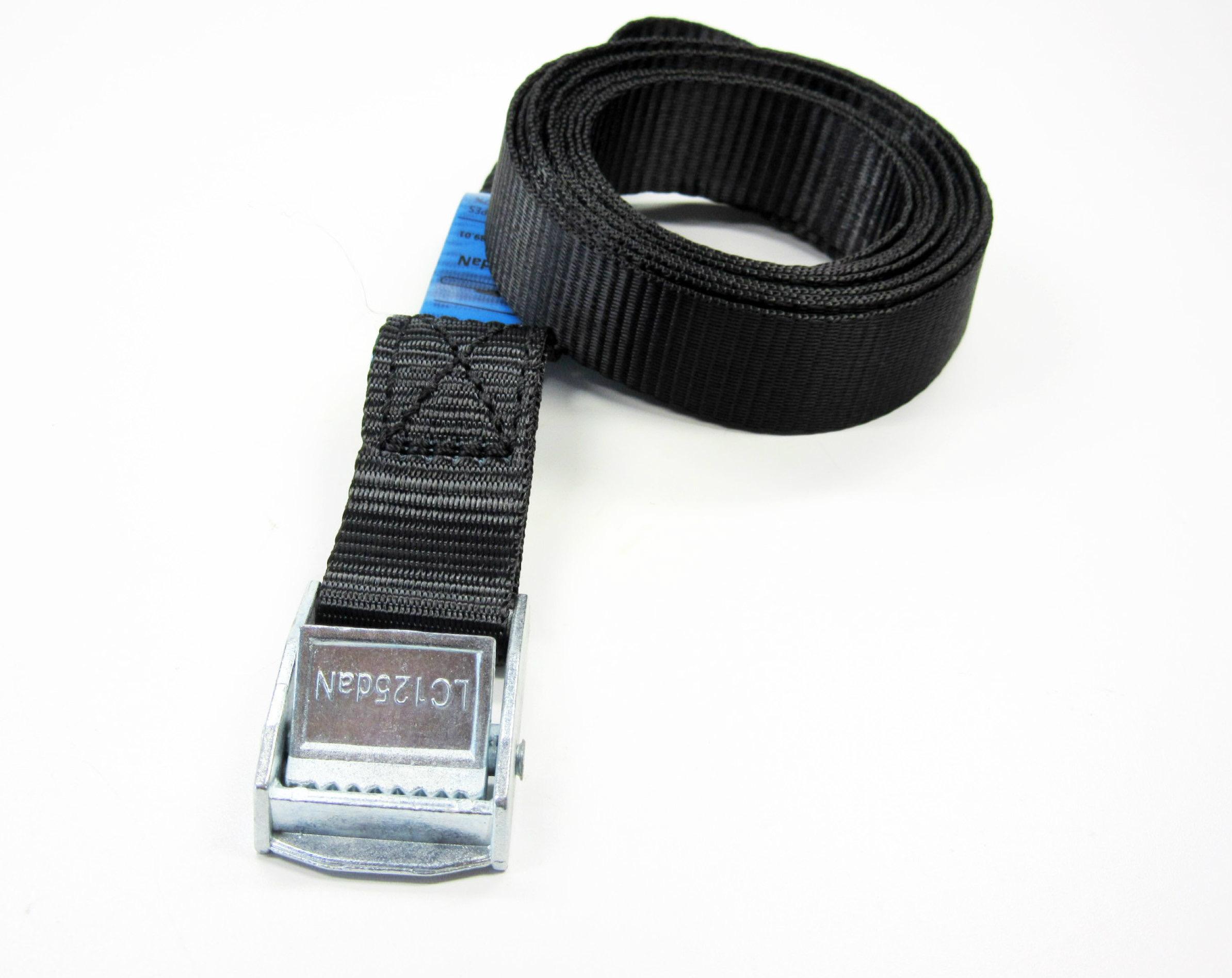 Spanbanden zwart 25 mm met klemsluiting grootverpakking