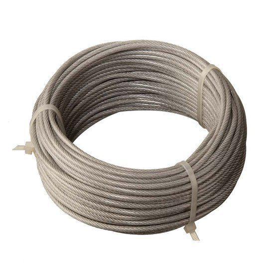 Staaldraad geplastificeerd 6x7 met 1 touwkern