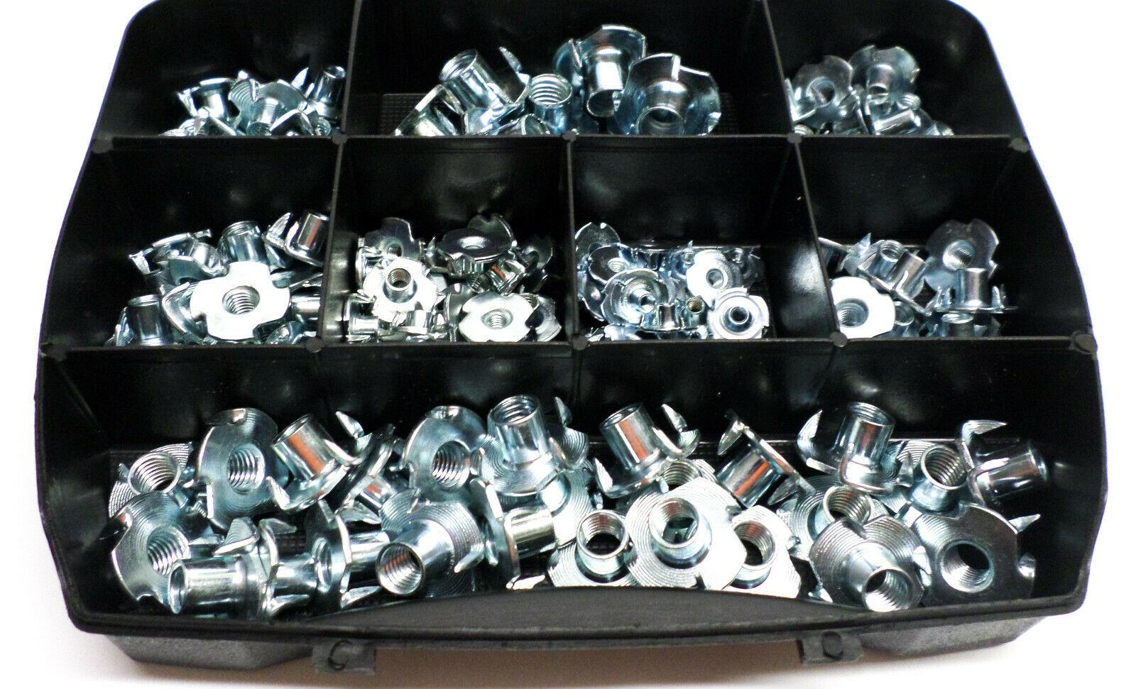 Inslagmoeren met schroefdraad in gegalvaniseerd staal M3 tot M10