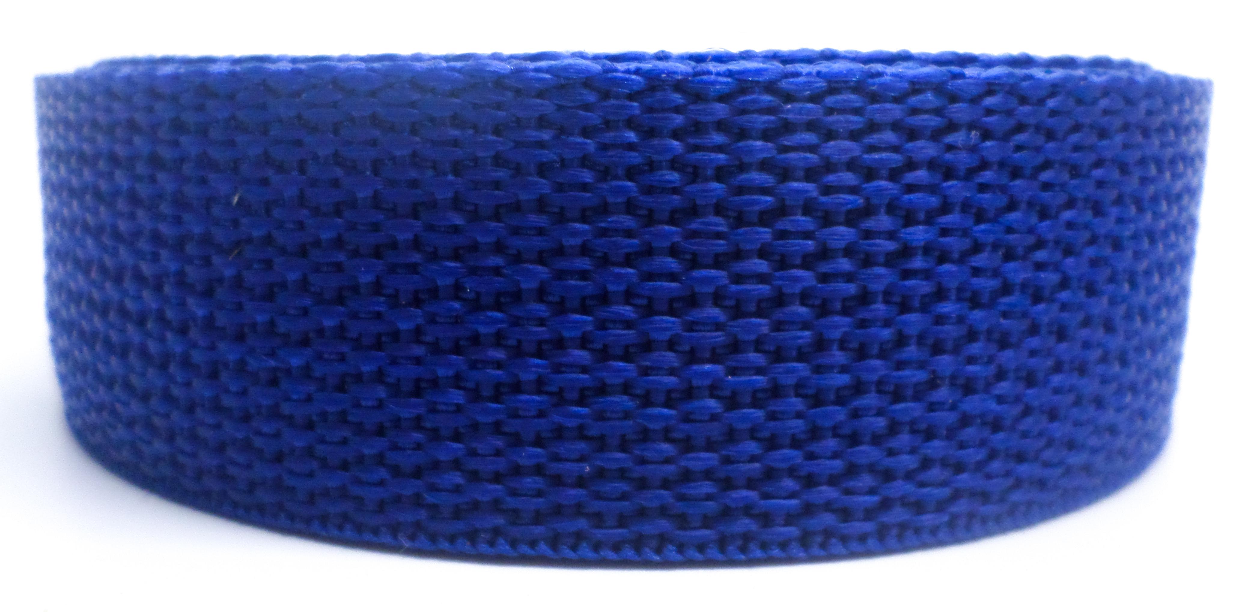 Band blauw op rol 25 mm 50 meter